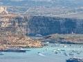 Panorama Comino z Gozo