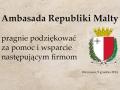Ambasada Republiki Malty pragnię podziękować za wsparcie i pomoc...