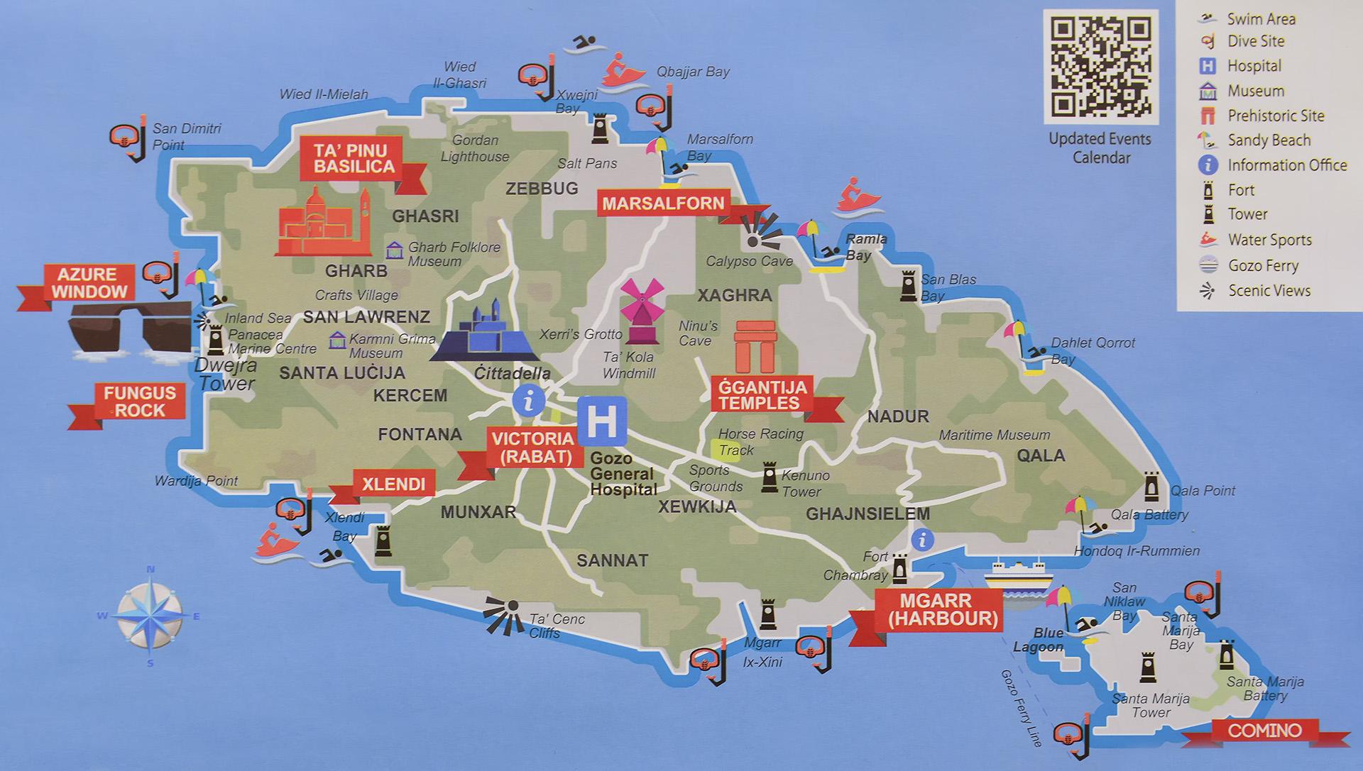 gozo mapa