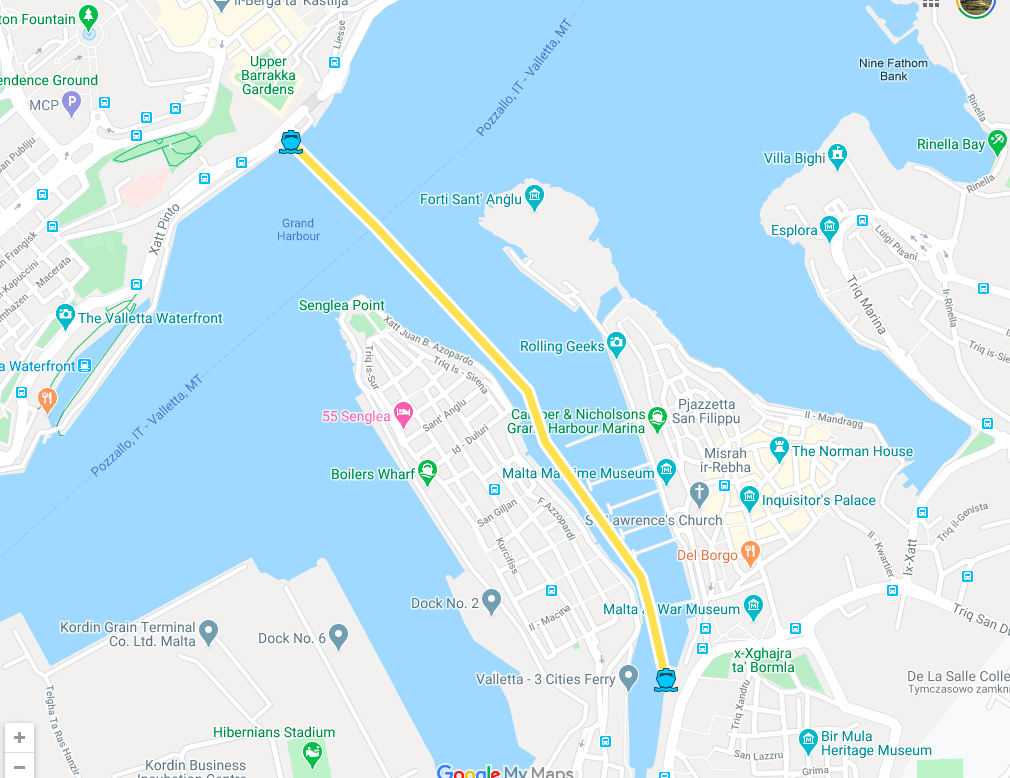 valletta 3 cities ferry